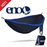 Eagles Nest Outfitters - ENO Double Deluxe Hammock, Portable Hammock for Two, Navy/Royal