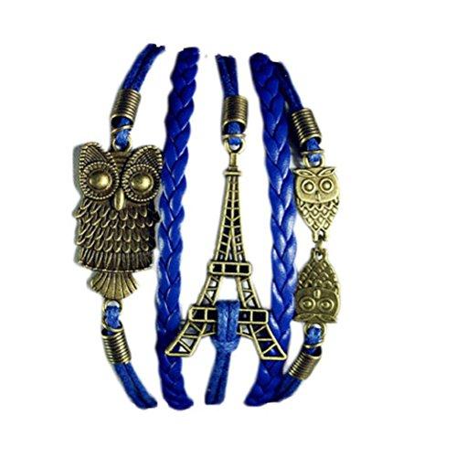Tonsee® Bohême Vintage vent perlée main multicouche Bracelet tissé