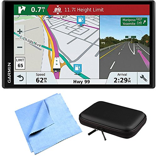 Garmin RV 770 NA LMT-S RV GPS Navigator for Camping Enthusiast w/ Hardshell Case Bundle includes PocketPro XL Hardshell Case and Cleaning Cloth For Sale