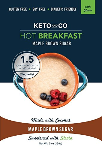 Keto Hot Breakfast (Stevia Maple Brown Sugar Flavor - 8 Servings)