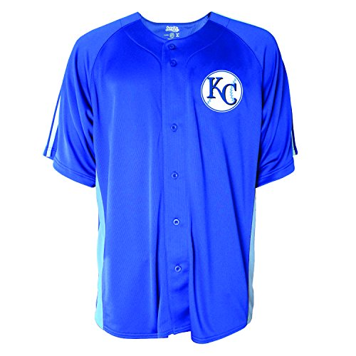 Stitches MLB Men's Button Down Fashion Jersey, XX-Large, Royal - Fashion Mlb Jerseys