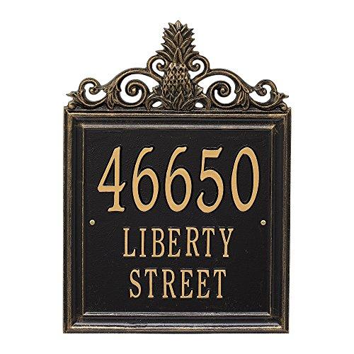 "Whitehall Custom Lanai Pineapple Estate Address Plaque 19""H (3 Lines) (Pineapple Whitehall)"