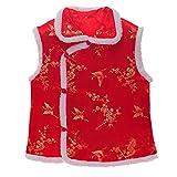 ESHOO Kids Boys Vest Chinese Traditional