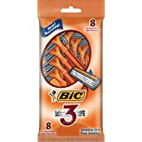 BiC Men's Triple Blade Disposable Sensitive Skin Razor, 8-count