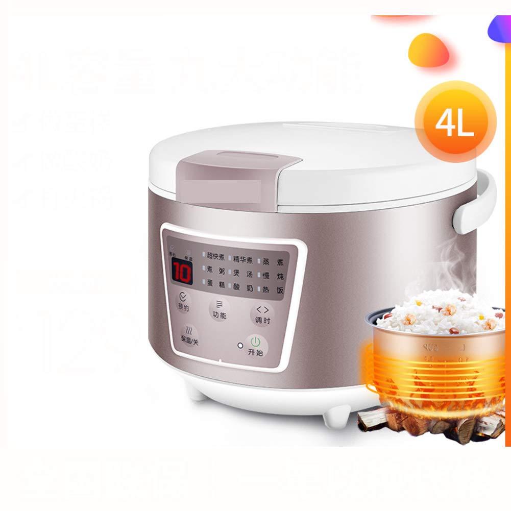 スマート炊飯器,炊飯器炊飯器 4 l 低速電気炊飯器食品スティーマー世帯 3 人-4 人 6 人多機能-ホワイト  ホワイト B07HDQBZZ7
