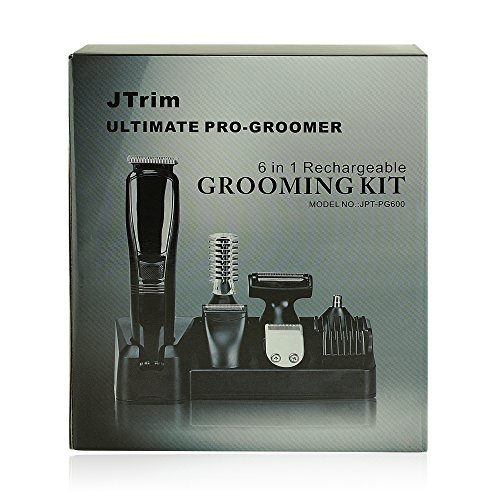 grooming kit for men by jtrim ultimate progroomer 6 in 1 body groomer beard trimmer hair. Black Bedroom Furniture Sets. Home Design Ideas