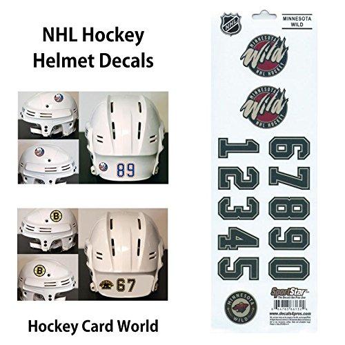 ((HCW) Minnesota Wild SportsStar NHL Hockey Helmet Decals Sticker)