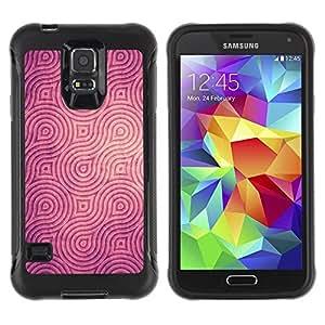 LASTONE PHONE CASE / Suave Silicona Caso Carcasa de Caucho Funda para Samsung Galaxy S5 SM-G900 / Engraved Pattern Brown Black