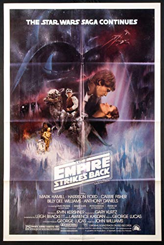 THE EMPIRE STRIKES BACK STAR WARS 1980 GWTW NSS STYLE A ORIGINAL ONE SHEET 27X41 MOVIE POSTER