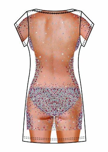 Boland 84232 - Fotorealistisches Kleid Bijou, Kostüme für Erwachsene, weiß, Gr. L