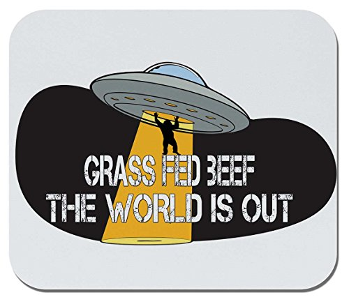Makoroni - Grass FED Beef, The World is Out - Non-Slip Rubber Mousepad, Gaming Office Mousepad