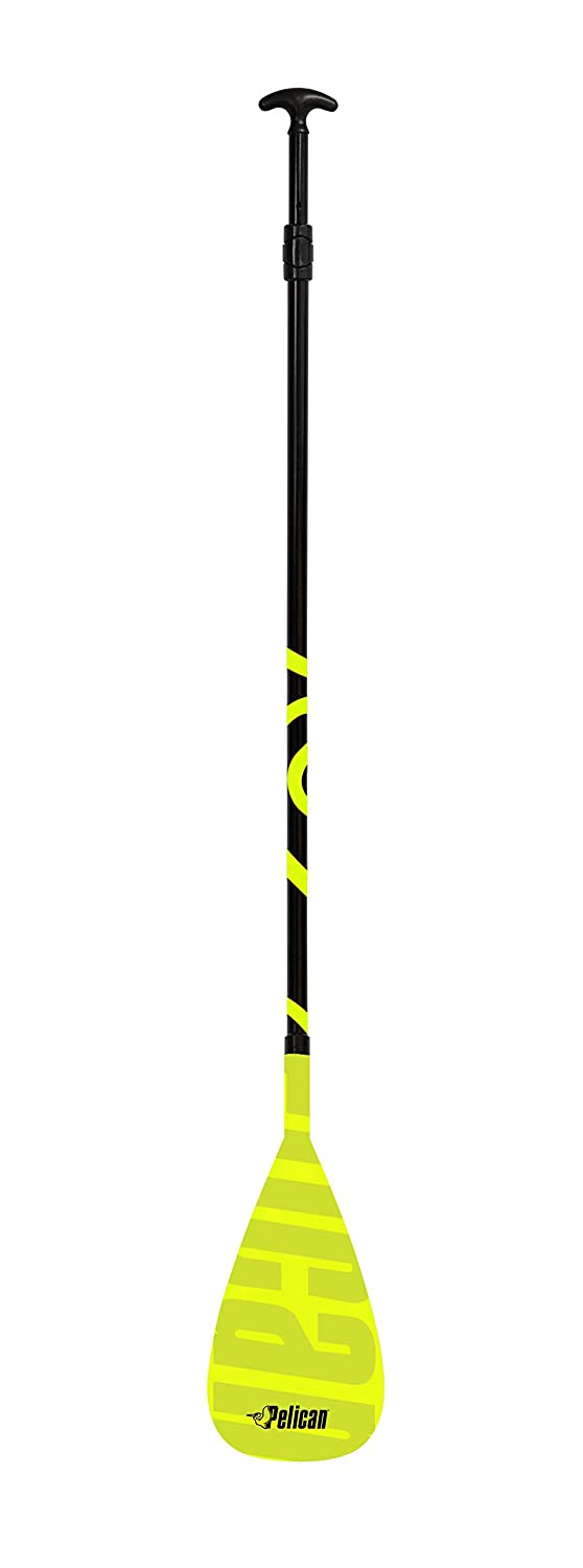 Pelican Sport Vate Fiberglass SUP Paddle (Stand Up Paddle Board), Premium Quality Material, Black/Yellow Pelican - CA PS1145
