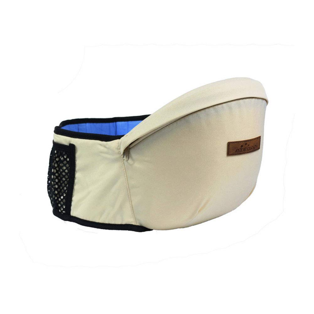 Baby Hip Seat Carrier Toddler Waist Belt with Adjustable Strap and Mesh Pocket Baby Carrier Baby Hipseat(Beige) ZhengNongShangMao