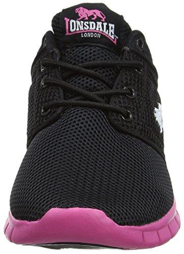 De Compétition Xb Sivas black Femme Black Lonsdale Chaussures Noir Pink Et pink Running qHEwwAC