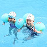 Free Swimming Baby 1 Pair Inflatable Swimming Arm Bands Roll-up Arm Sleeve Swimming Rings Tube for for Kids and Adults (S)