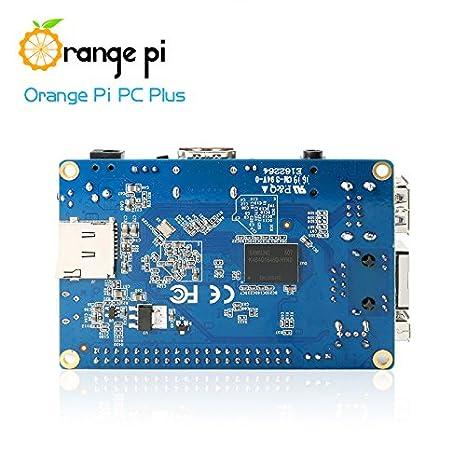 Orange Pi PC Plus Single Board Computer - Quad Core 1 3GHz ARMv7 1GB DDR3  8GB eMMC Storage