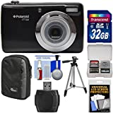 Polaroid iTT28 20MP 20x Zoom Digital Camera (Black) with 32GB Card + Case + Tripod + Kit