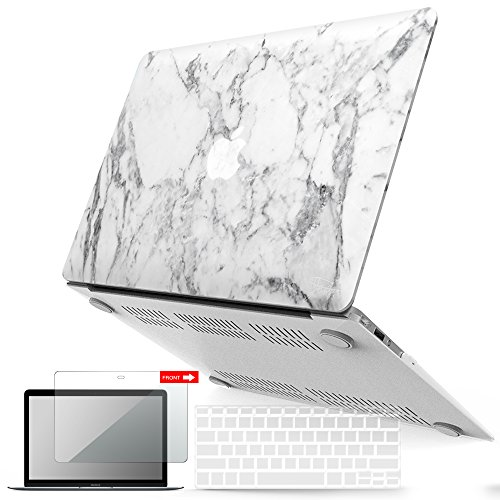 Case Cover Rubberized Soft (iBenzer Basic Soft-Touch Series Plastic Hard Case, Keyboard Cover, Screen Protector Apple MacBook Air 11-inch 11