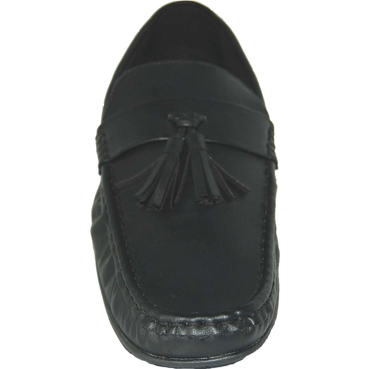 KRAZY SHOE ARTISTS Shoe Artists Loafer Tassel Men in Black