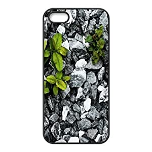For HTC One M7 Phone Case Cover Plants Between Stones Hard Shell Back Black For HTC One M7 Phone Case Cover 316585