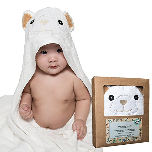Luxury Grade Baby Bath Towel With Cute Hood for Boys and Gir