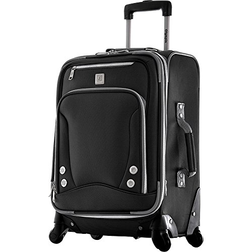 Olympia Luggage Skyhawk 22 Inch Expandable Airline Carry-On,Black,One Size by Olympia (Image #1)