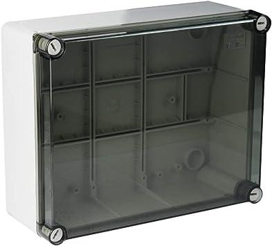 MARLANVIL - Caja estanca IP66 240 x 190 x 90 cm, tapa transparente: Amazon.es: Bricolaje y herramientas