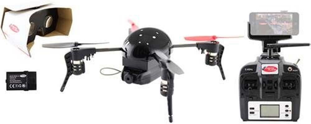 Microdrone 3.0,quadricottero con fotocamera/guida FPV, nero