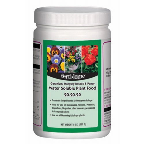 Voluntary Purchasing Group 10728 Fertilome Geranium Hanging Plant and Pansy Water Soluble Plant Food Fertilizer, 8-Ounce (2)