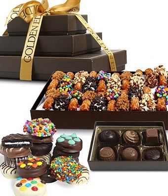 From You Flowers - Chocolate Dipped Favorites Gift Tower (39 Pieces)