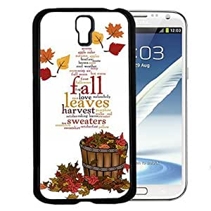 Autumn Love Falling Leaves Quote Hard Snap On cell Phone Case Cover (Samsung Galaxy S4 I9500)