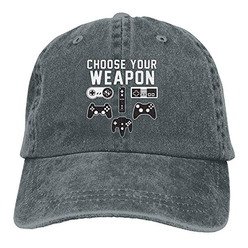 béisbol Weapon Game Yuerb Chse Your Mens Hat Gorras Baseball Stretch Caps Controllers Video Denim 5cwwqfA4