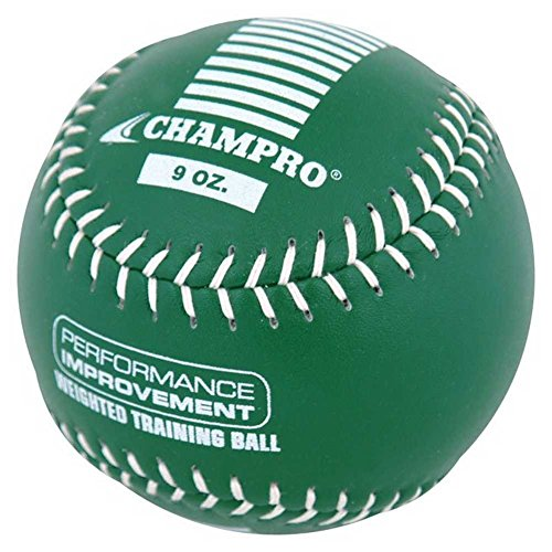 CHAMPRO Sports Training Softball, Weighted 9oz Green Leather Ball CSB709