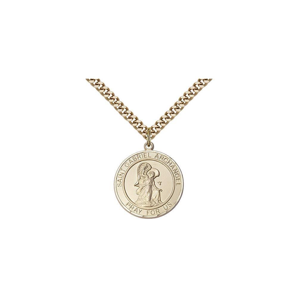 DiamondJewelryNY 14kt Gold Filled St Gabriel The Archangel Pendant
