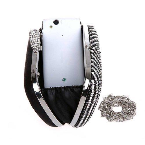 Case Diamond Bag Varnished Clutch Black New red Diamond Wedding black Hard Kaxidy Night Small Twq1XtT