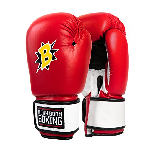 Price comparison product image BOOM BOOM Boxing Bomber Gloves,  Red / White / Black,  12 oz
