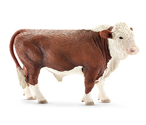 (Schleich Hereford Bull Toy Figure)