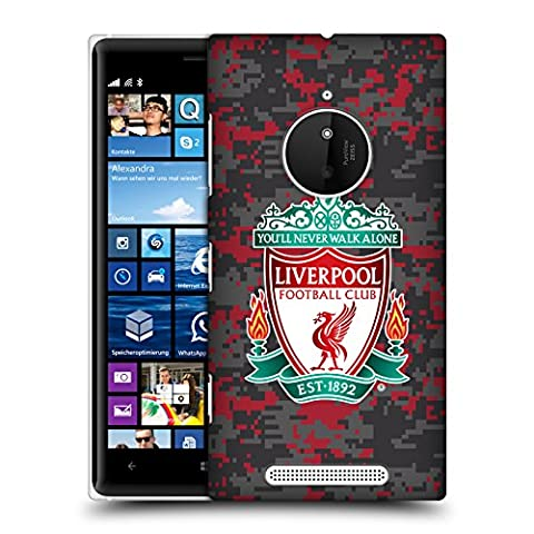 Official Liverpool Football Club Club Colors Crest Digital Camouflage Hard Back Case for Nokia Lumia (Hard Case For Nokia Lumia 830)