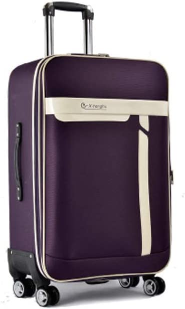 Color : Purple, Size : 22 Purple The Latest Style 20//22 Inches Simple Simple and Soft Case HUIJUNWENTI Carry Suitcase Rotating Suitcase