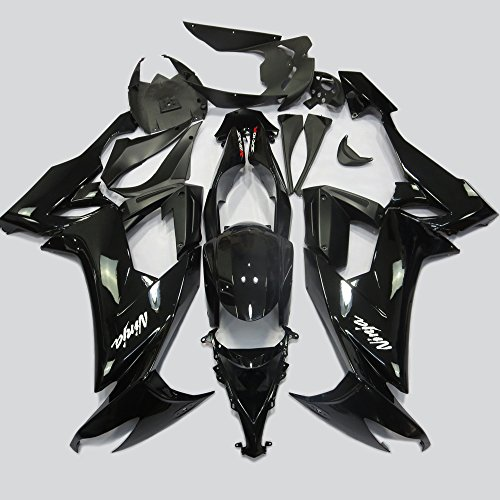 ABS Injection Molding - All Gloss Black Fairing Kit for Kawasaki Ninja ZX10R 2008 2009