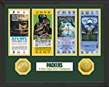 "NFL Green Bay Packers Sb Championship Ticket Collection, Bronze, 18 "" x 14"" x 3"""