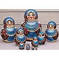 Matryoshka Muñecas de anidación 10 piezas de madera 16 cm