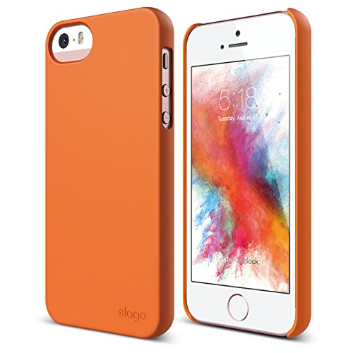 iPhone SE case, elago [Slim Fit 2][Soft Feel Orange] - [Light][Minimalistic][True Fit] - for iPhone SE/5/5S