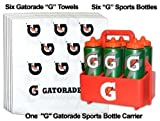 Mini Team Gatorade G Sports Pack = 6 G Bottles, 1 Carrier, and 6 Gatorade 'G' Towels