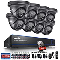 Annke 8CH 1080P AHD Security Camera System with 1TB Hard Drive + 8xHD 2.0MP(19201080) Outdoor Fixed Surveillance Cameras, Super night vision, IP66 Weatherproof Metal Housing, Motion Detection