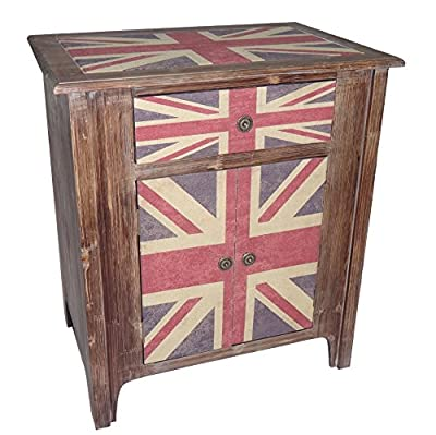 Cheung's 1-Drawer 2-Door Union Jack Cabinet