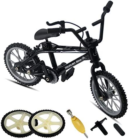 signmeili Finger Bike Mini Extreme Sports Finger Bicycle,Finger Bikes Set2 Replacement Wheels and 3 Tools,Extreme Sports Finger Bicycle for Mini Extreme Sports Party Favors