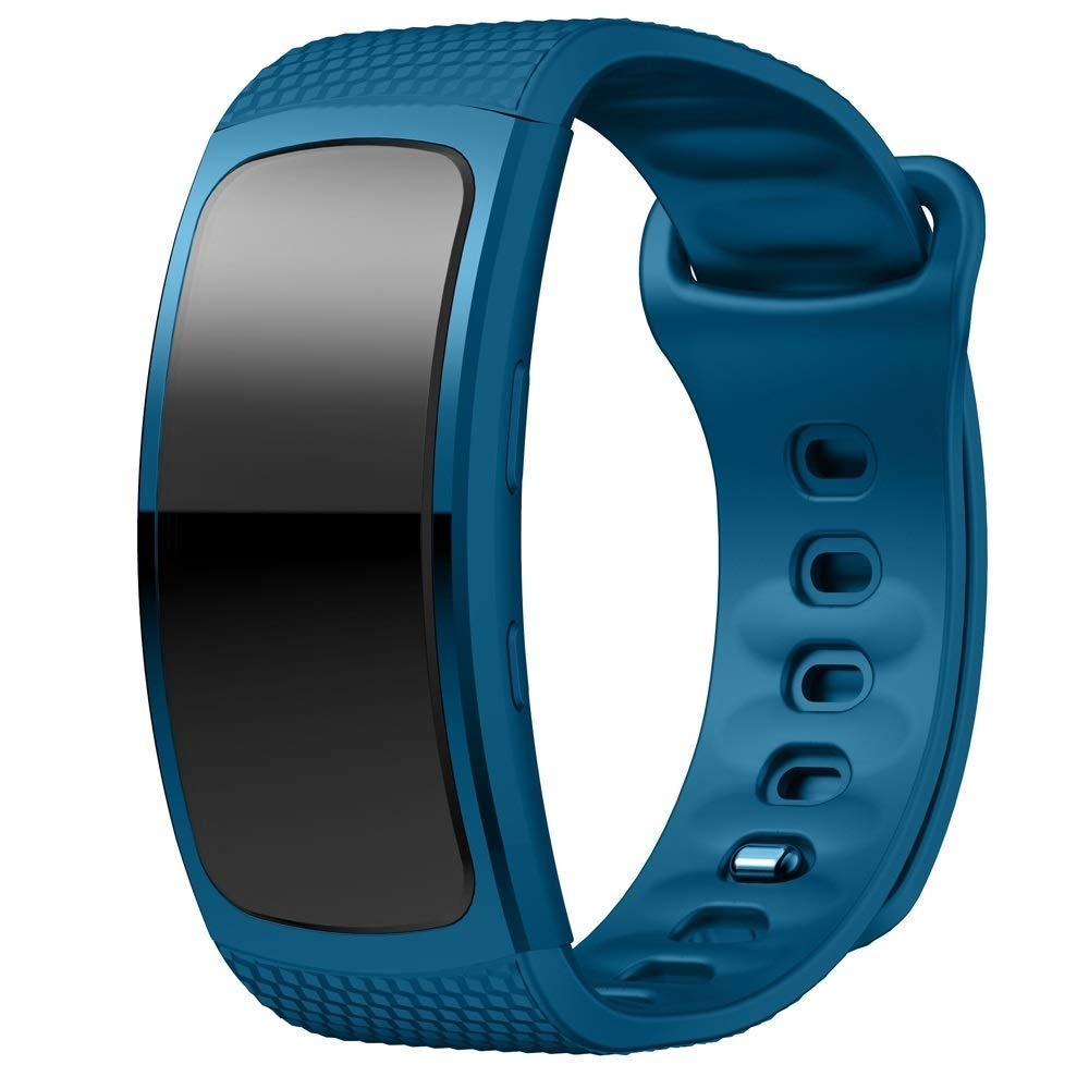 Silicone Wrist Strap Watch Band for Samsung Gear Fit2 SM-R360, Wrist Strap Size:150-213mm Premium Quality (Color : Blue) by GuiPing