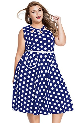 Pyramid Women's Polka Dot Ruffle Off Shoulder Long Sleeves Plus Size Dress (XL, (Plus Polka Dot)