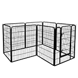 ZENY Foldable Metal Exercise Pen & Pet Playpen
